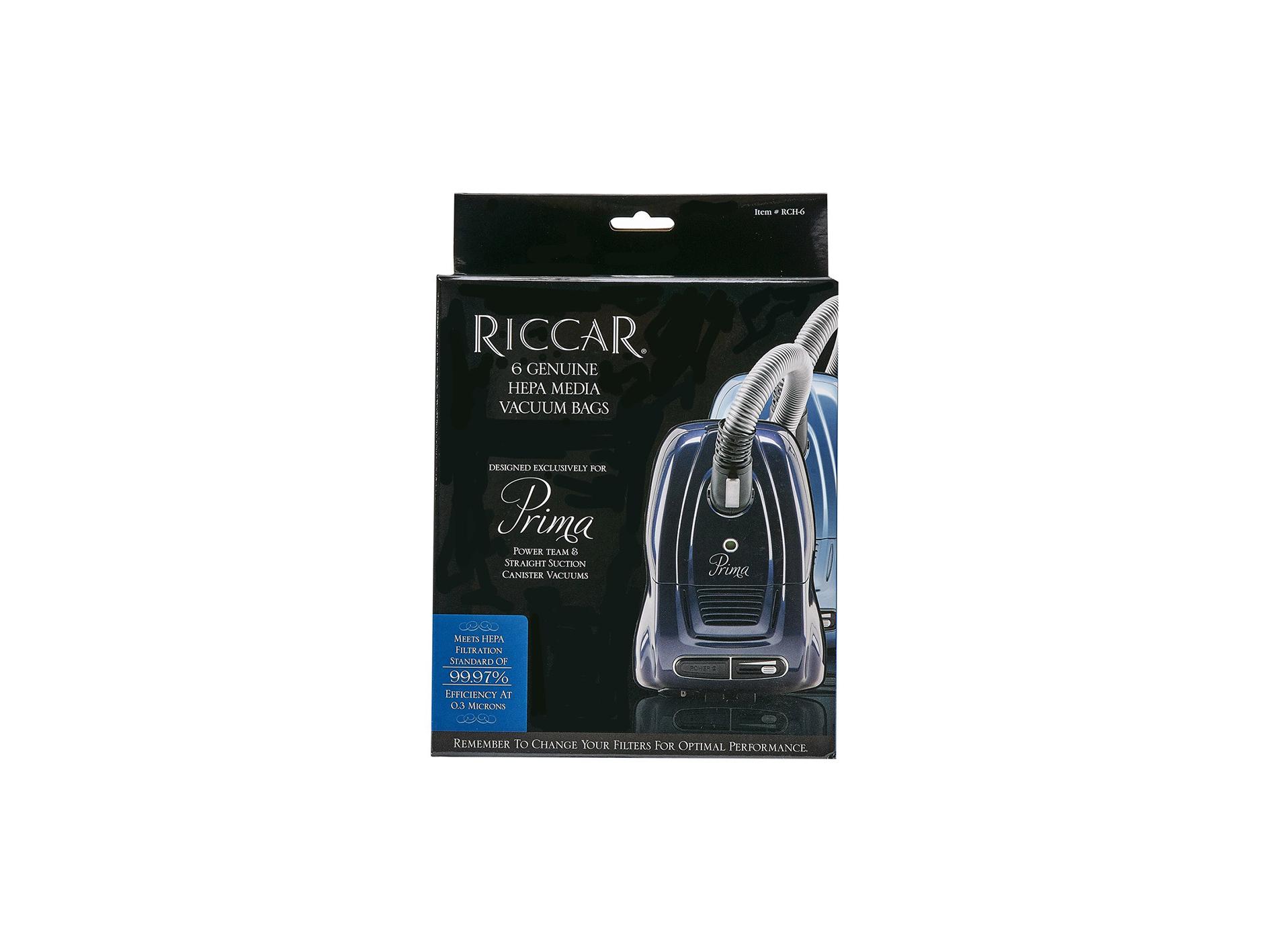 Riccar Prima Hepa Media Bags Cardy Vacuum